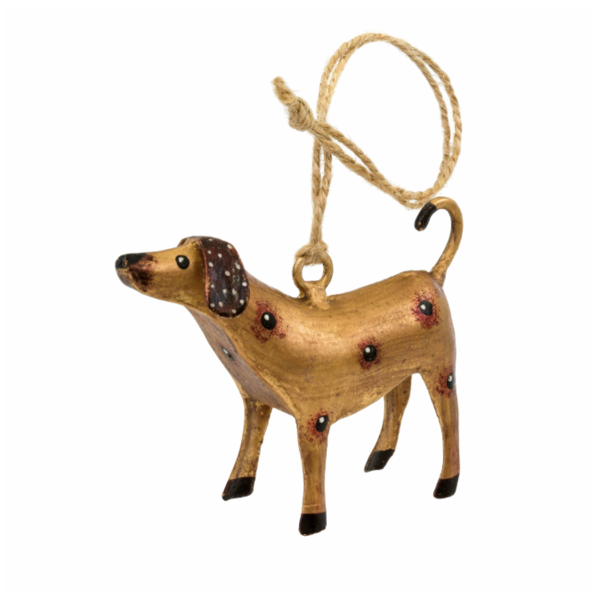 Spotty Dog Iron Ornament, Gold