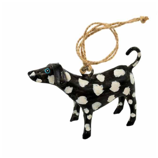 Spotty Dog Iron Ornament, Black