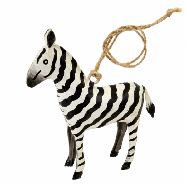 Safari Zebra Iron Ornament