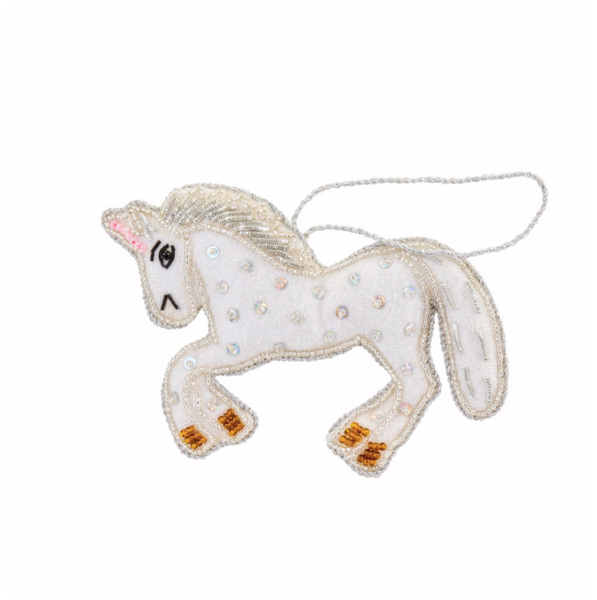 Unicorn Plush Ornament