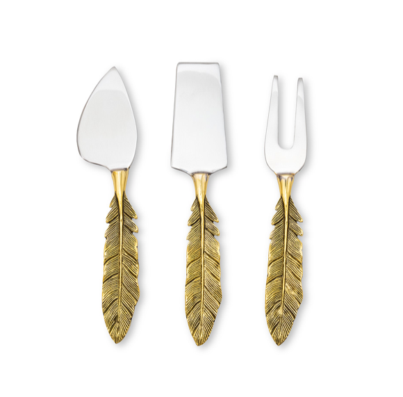 Feather Cheese Knife Set
