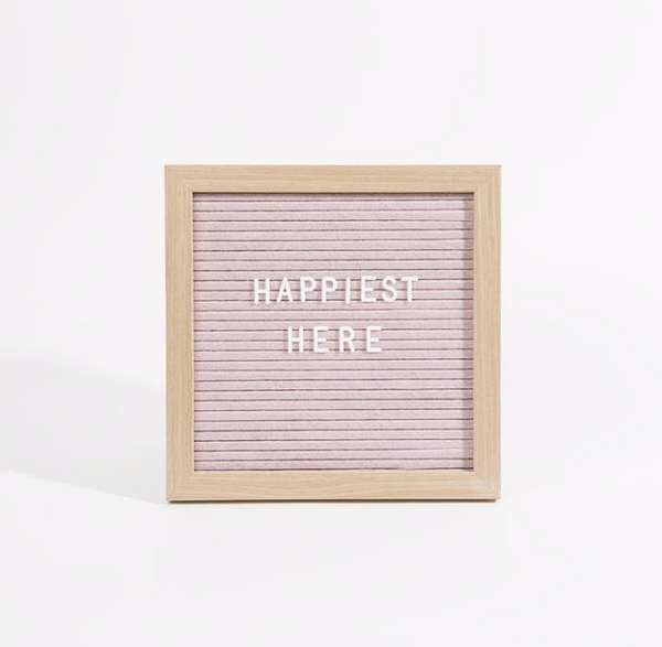 Small Felt Letter Board - Dusty Rose