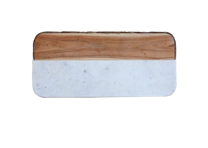 Mango Wood and Marble Board