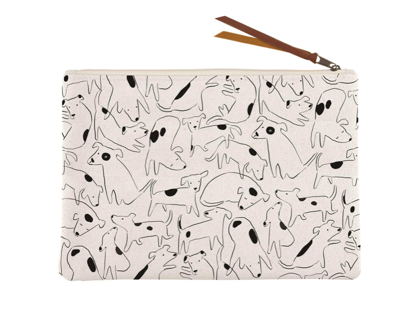 Nosy Dogs Canvas Pouch