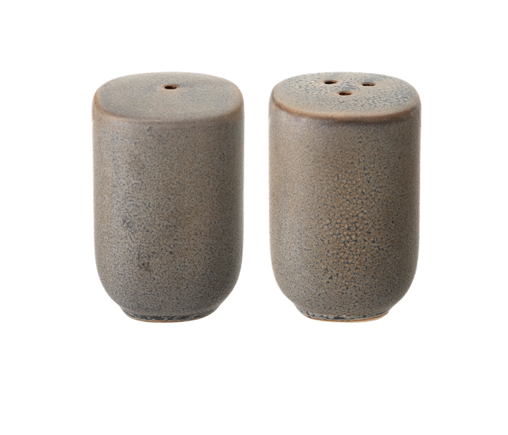 Stoneware Salt + Pepper Shakers