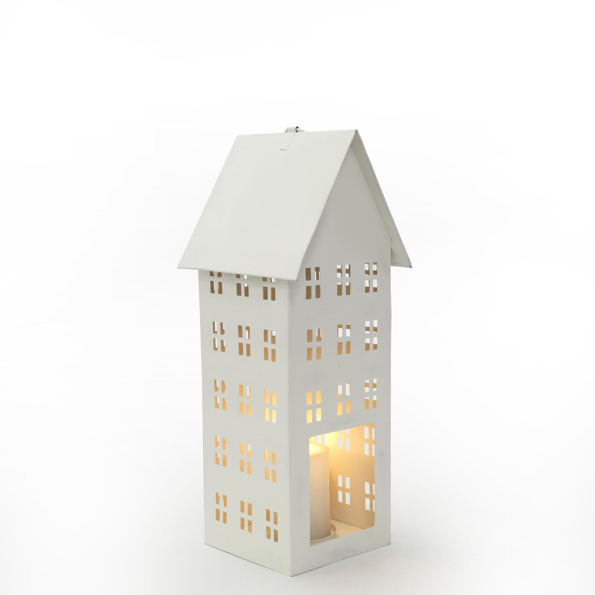 Small House Lantern White