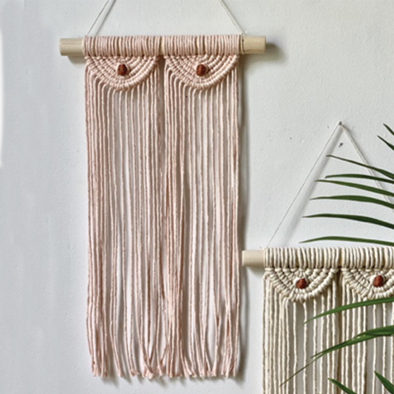 Macrame Boobs Wall Hanging - Blush