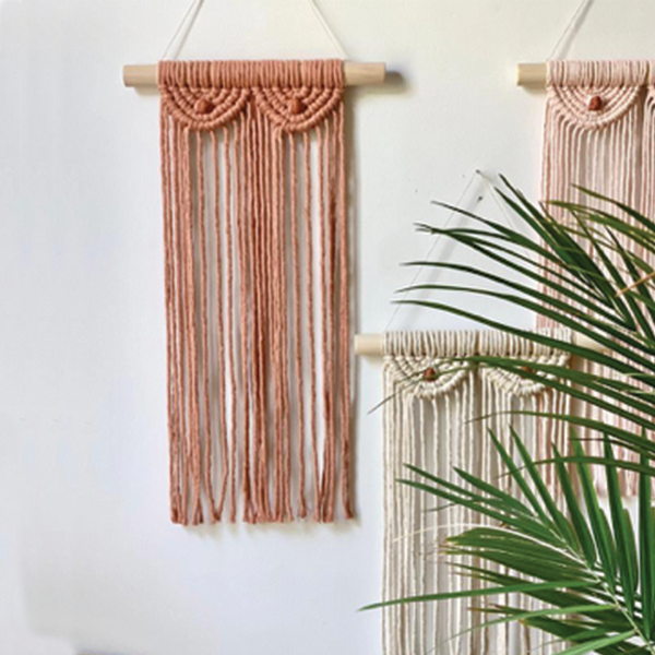 Macrame Boobs Wall Hanging - Caramel