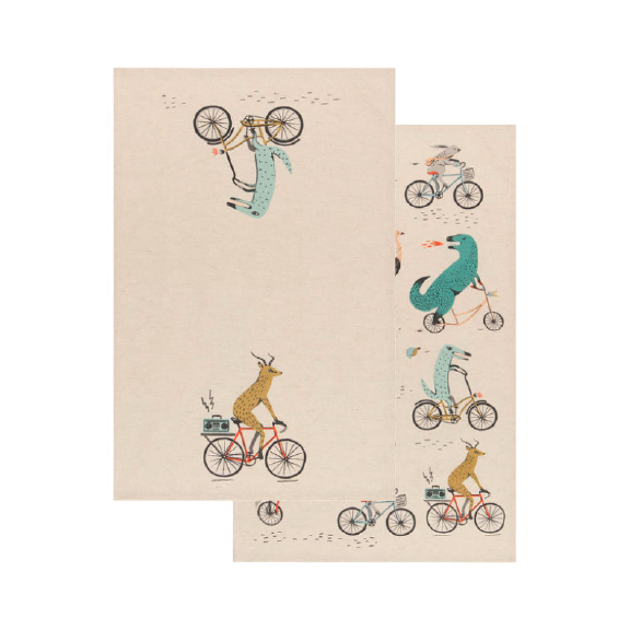 Wild Riders Tea Towel Set/2