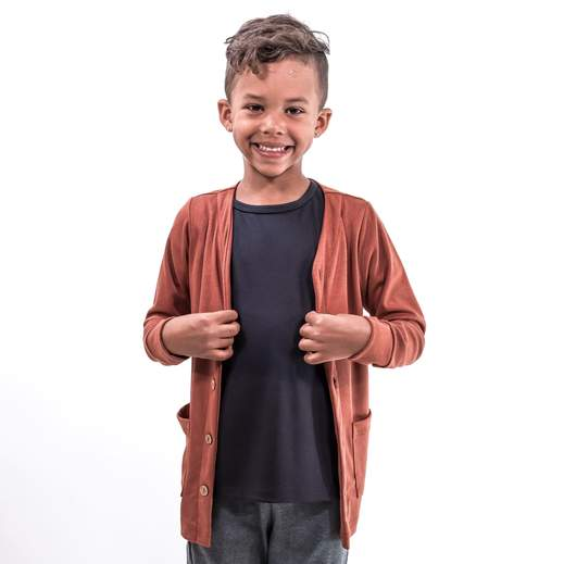 Little & Lively Bamboo/Cotton Cardigan - Brick