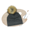 Little & Lively Charcoal Pom Pom Beanie