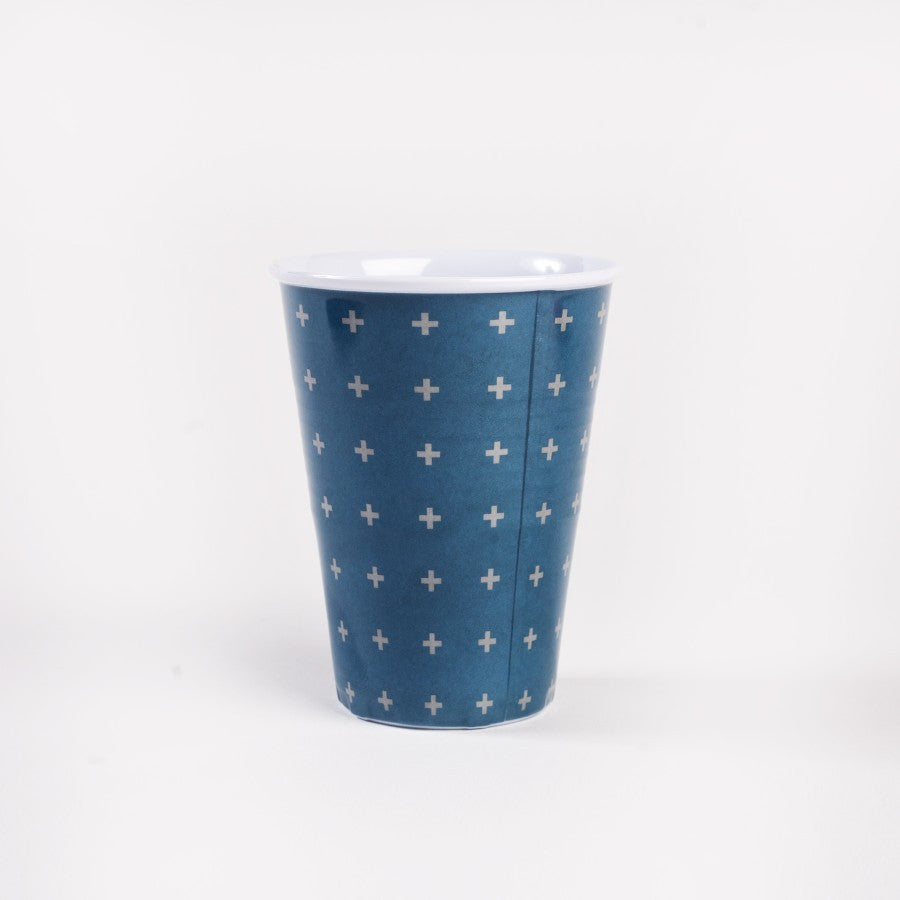 Melamine Tumbler - Blue Cross