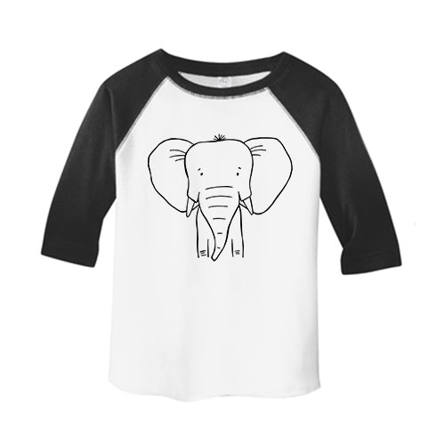 Emma the Elephant Baseball Tee