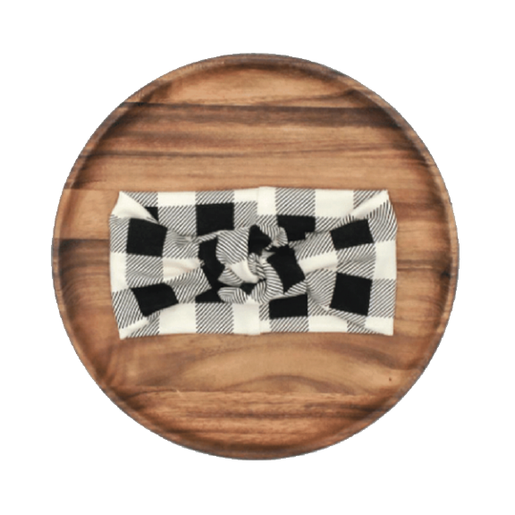 Little & Lively - Knotted Buffalo Plaid Headband