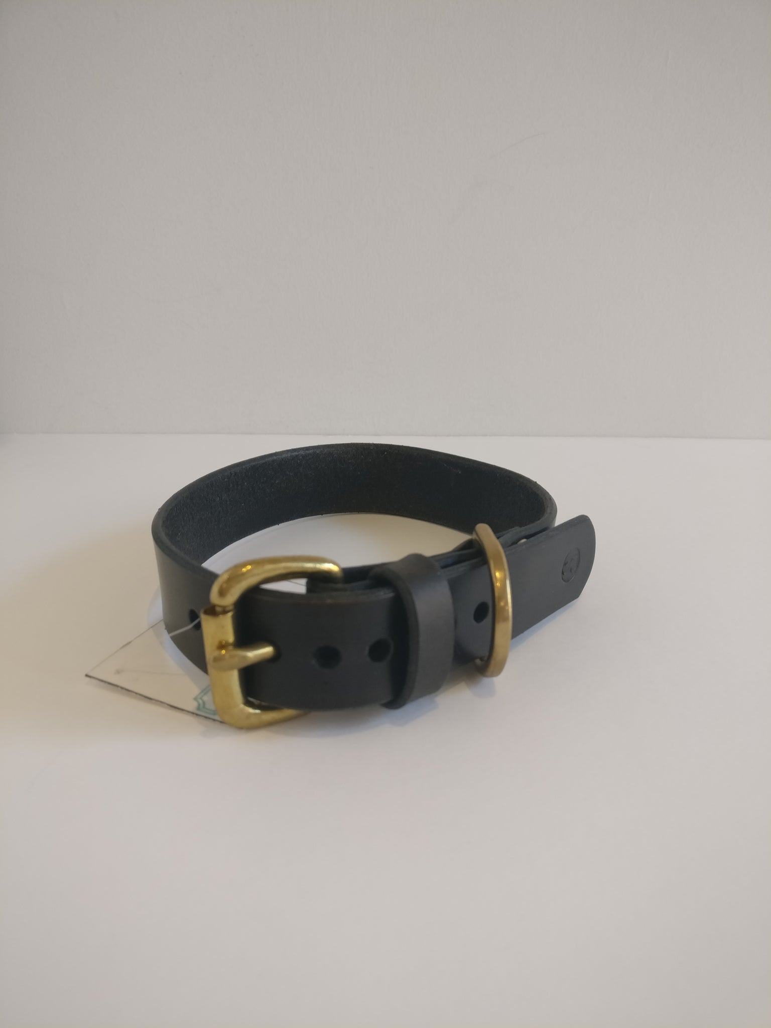Medium Dog Collar - Black/Brown