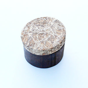 Decorated Wooden Box with Recycled Wooden Pulp: 'Enclosed Chaos'