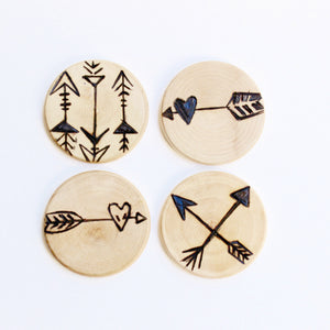Wood Burned Magnets: The Artemis Set