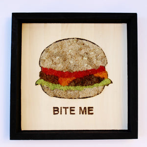 Moss Art: 'Bite Me' Burger