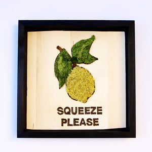 Moss Art: 'Squeeze Please' Lemon