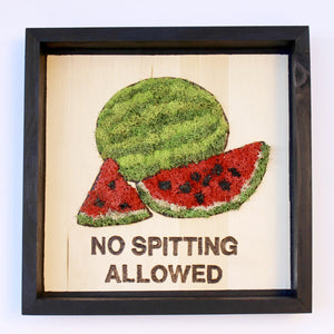Moss Art: 'No Spitting Allowed' Watermelons