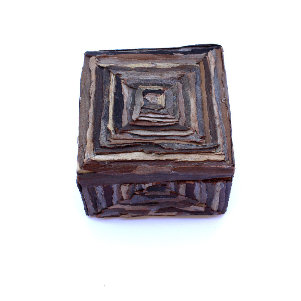 Handmade Decorative Wooden Box The Pyramid Scheme Remnants Of Nature