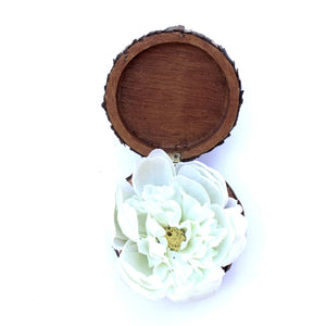 Handmade Decorative Wooden Box: 'Flower Power'
