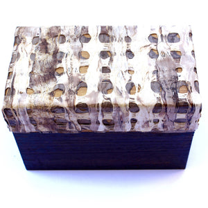 Decorative Wooden Bark Box: 'You're So Transparent'