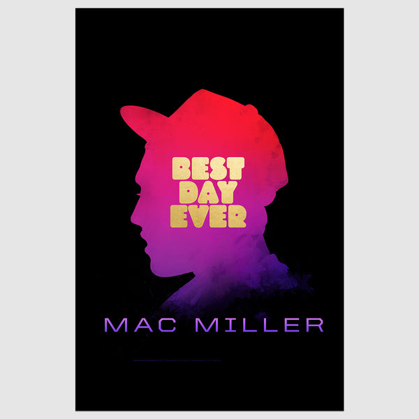 Mac Miller Best Day Ever Ultimate Bundle (LP, Snapback, Litho, Digital Download)