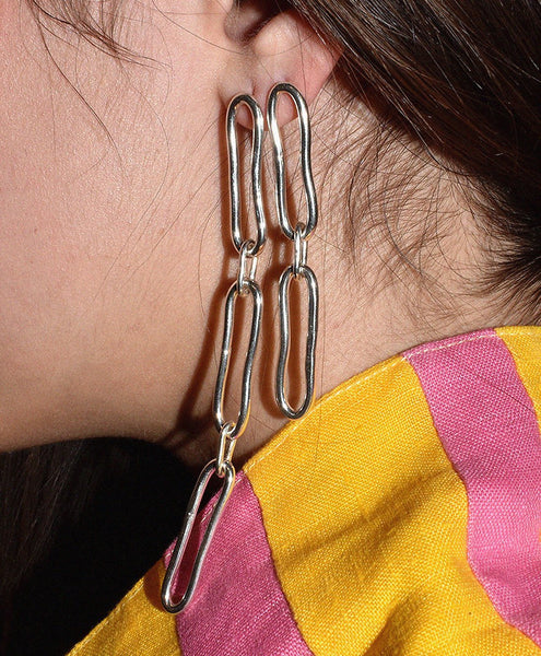 Mitchell Street Metal Chain Earrings
