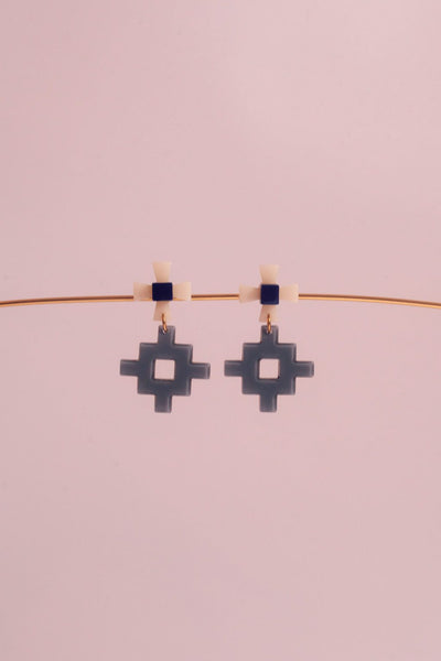 Makorou Bleu Earrings / Après Ski