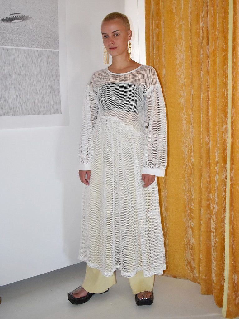 Jayme Dress in White Netting / Et Tigre