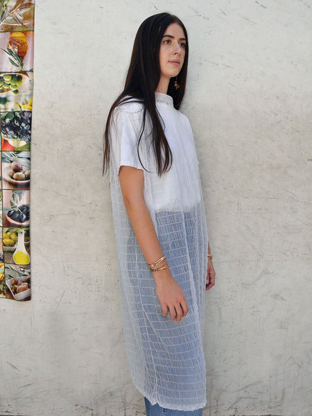 Shirred Sheer Tank Dress / Leonor Aispuro