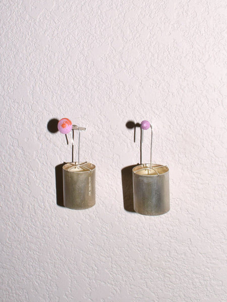 Mitchell Street Metal Drum Earrings