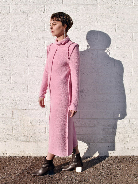 Feeling Pink Shag Sweater Dress  / NOONS x Fran Sews Co.