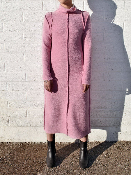 Pink Shag Sweater Dress  / NOONS x Fran Sews Co.