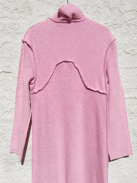 Pink Shag Sweater Dress NOONS Fran Sews Co