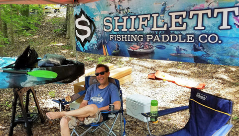 Chris Collier @ Fishing Paddle booth