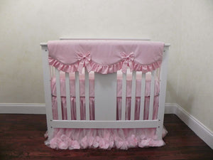 Pink Mini Crib Bedding Set - Girl Baby Bedding, Princess Mini Crib Bedding