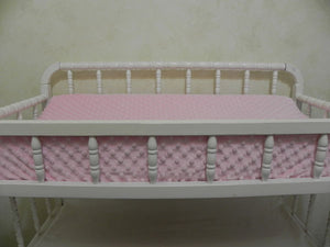 Changing Pad Cover - Light Pink Minky Dot