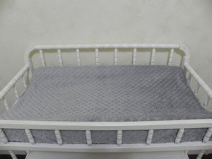 Changing Pad Cover - Gray Minky Dot