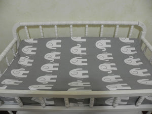 Girl Crib Bedding Set Rainie - Girl Baby Bedding, Elephant Crib Bedding, Pink and Gray Crib Bedding