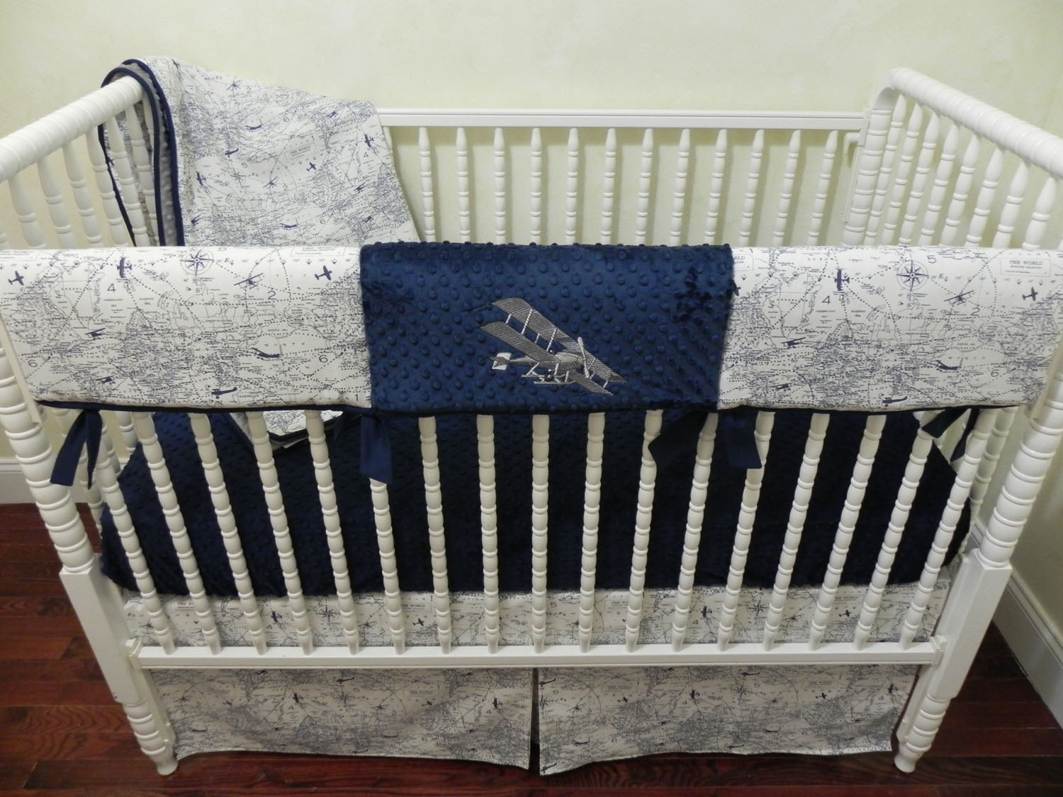 Airplane Crib Bedding Set Boy Baby Bedding Air Traffic Map Crib Bed Just Baby Designs