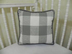 Gray Buffalo Plaid Baby Bedding Set - Buffalo Plaid Crib Bedding , Boy Crib Bedding, Crib Rail Cover