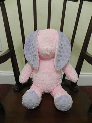 Snuggle Pal Bunny - Light Pink with Lavender