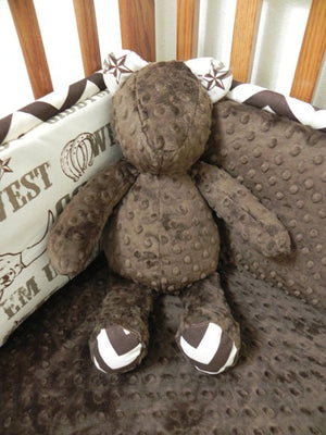 Snuggle Pal Bear - Brown with Cowboy Print