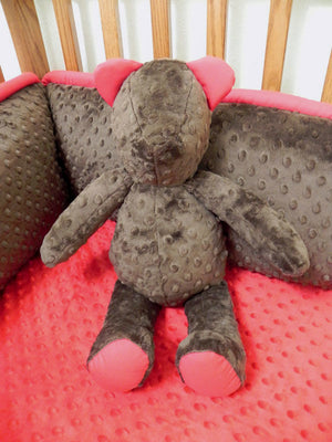 Snuggle Pal Bear - Brown with Red