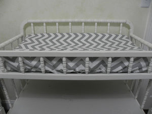 Changing Pad Cover - Gray Chevron