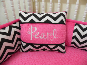 Black Chevron with Hot Pink Specialty Pillow