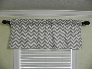 Window Valance - gray chevron