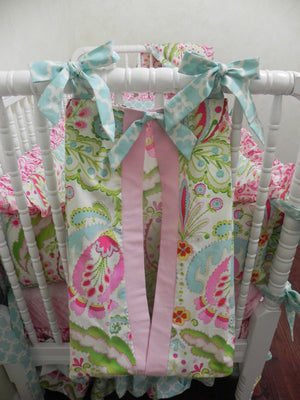 Diaper Stacker - Kumari Gardens with Pink and Aqua